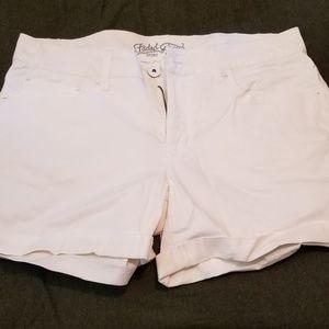White faded glory cuffed shorts